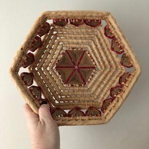 Vintage hand made basket